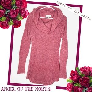 ANTHROPOLOGIE-ANGEL OF THE NORTH Waffle Wv Sweater